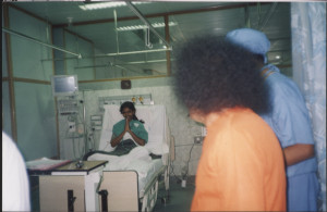 Swami Blessing patient in ICU