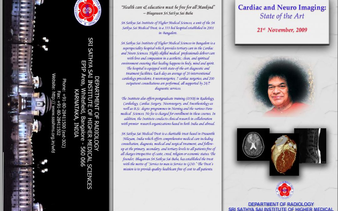SACRED-1: 21-Nov-2009 – (Neuro and Cardiac Imaging : State Of the Art)